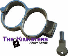 Stainless Steel Handcuffs, Bondage, Wrist Cuffs, Dungeon, Slave, Escapology, UK