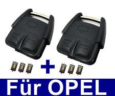 2x Schlüssel Fernbedienung Gehäuse Für OPEL VECTRA C SIGNUM+6x Mikro Taster