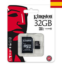 MEMORIA MICRO SD KINGSTON 32 GB CLASS 10 CON ADAPTADOR TARJETA SD PC ORDENADOR