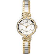 Timex Women's Anna Avenue   Two-Tone w Swarovski Crystals Dress Watch TW2P61200