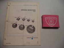 HEWLETT PACKARD HP CRYSTAL DETECTORS 424A OPERATING NOTE ~ 00424-90026