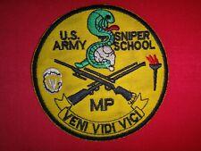 US ARMY SNIPER SCHOOL MP VENI VIDI VICI Patch