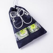 SHOE storage bag pouch good quality travel holiday home window & draw string