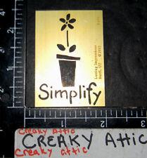 SIMPLIFY FLOWER POT BRASS DRY EMBOSS STENCIL LASTING IMPRESSIONS EMBOSSING