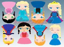Princess Bedroom wall / toy box stickers Vinyl Baby Nursery Childrens Girls