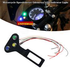 Motorcycle Bikes Speedometer Odometer Instrument LED Indicator Light w/Bracket