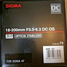 Sigma 18-200mm f/3.5-6.3 OS DC SLD Lens for SIgma SA mount DSLR cameras only