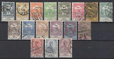 Hungary 1913. Flood complete set, 17 value, used ! Mi.: 128-144 / 90 EUR