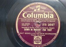 78 rpm NAT GONELLA & NEW GEORGIANS down in mexico / beat me daddy eight to the b