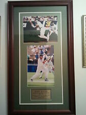 CRICKET MEMORABILIA MARK WAUGH SIGNED LARGE FRAMED PRINT WITH COA
