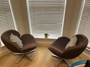 Bo Concept Swivel Chairs (pair)