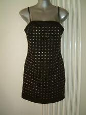 LADIES H&M DRESS SIZE 8 BLACK  SPAG. STRAPS, LINED, BACK ZIP EUR 36