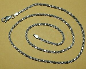 """~VTG~ITALIAN~""""925""""~STERLING~SILVER~ORNATE~""""ROPE""""~CHAIN~LINK~18""""~NECKLACE~8.5g~"""