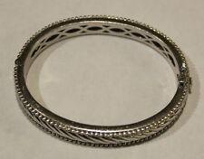 Judith Ripka 925 Sterling Silver Bracelet - Rope & Bead Design