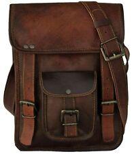 Mens Genuine Top Qualiy Leather Brown Crossbody Shoulder Satchel Messenger Bag