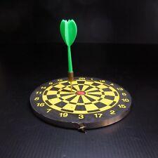 Cible miniature jeu fléchette vintage noir jaune rouge art déco collection N6909