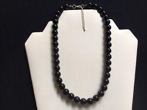 Women's Short Black Bead Necklace