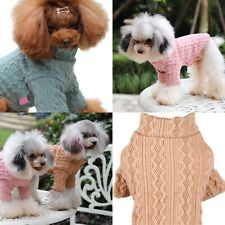 CUTE DOG PUPPY PINK GREEN BEIGE BROWN LIGHTWEIGHT CABLE KNIT JUMPER TOP SWEATER