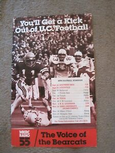 University of Cincinnati Bearcats 1978 Football Schedule Poster