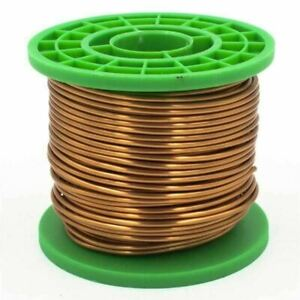 Enamelled Copper Wire 8mm x 3.55mm Cu 99.9% W-Nr 2.0090 Paint Wire Craft 1-100 M