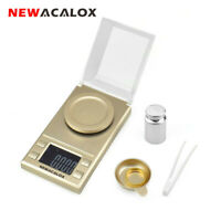 NEWACALOX Digital Milligram Scale 0.001g x 50g Electronic Weighing Gram Balance