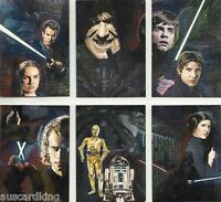 Star Wars - Galaxy Series 4 - Complete 6 Card Chase Foil Set - Topps 2009 - NM