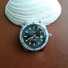 Vintage Avia Divers Watch w/Mint Dial,All SS Case,Screwdown Crown FOR REPAIR