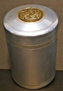 ⭐Tall Sterling Bronze Company Humidor With Mythical Bronze Decoration.