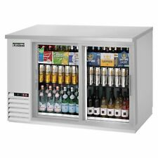 """Everest Ebb48G-Sd-Ss 49"""" Two Section Back Bar Cooler with Glass Door, 13.0 cu. f"""
