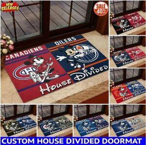NHL | House Divided | Mickey & Minnie Custom Doormat