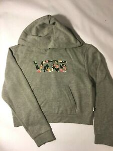 Vans New Flying V Hooded Pullover Sweatshirt Floral Youth Girls Size Medium
