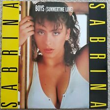 "SABRINA  BOYS SUMMERTIME LOVE 12"" VINYL EXCELLENT CONDITION DANCE PICTURE SLEEVE"