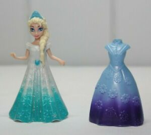 Disney Frozen Magiclip Elsa 3.75 Inch Figure With Two Dresses Polly Pocket