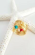 Fashion Women Spiral Geometry Rings Set Knuckle Finger Midi Jewelry pearl sea