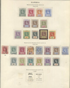 GAMBIA 1902-09 EDWARD VII ISSUES MINT USED virtually complete incl. nos. 28-64 $