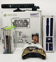 Microsoft Xbox 360 Limited Edition Star Wars R2-D2 Console Bundle 5 Games Box 🔥