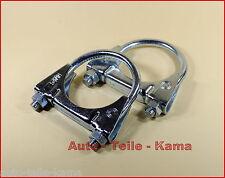 2 x Auspuffschelle für Audi , Montageschelle , Bügelschelle  / Clamp ,M8 Ø 54 mm