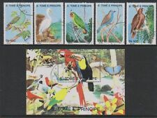 Birds Used Sao Tomean Stamps
