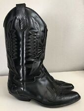 Seychelles Black Leather Cowboy Boots Womens Size 8