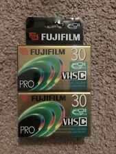 2 Fujifilm Vhs-C Tapes Pro Premium High Grade Camcorder 30 min Video Cassettes