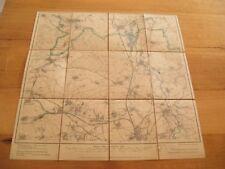 alte Landkarte Messtischblatt Sachsen Nr.58 Regis von 1908 auf Leinen