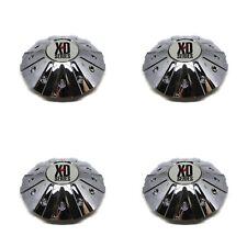 4 NEW KMC XD MONSTER CHROME CENTER CAP 846L215 17 18 20 22 24 FORD CHEVY DODGE