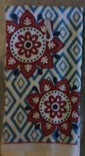 NEW KITCHEN COTTON DISH TOWEL Modern  COLORS  Mandala Flowers Teal  Ecru