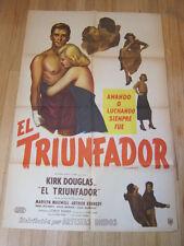 CHAMPION Original 1949 Argentina movie poster Kirk Douglas boxing film noir