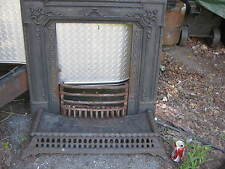ANTIQUE VICTORIAN CAST IRON FIREPLACE SURROUND HOME HEARTH STOVE ART FIRE PANEL