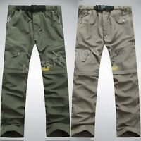 Outdoor Men's Quick Dry Hiking Pants Detachable Climbing Camping Trousers Shorts