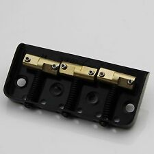 Wilkinson WTBS Short Bridge for Telecaster Brass Saddles Black