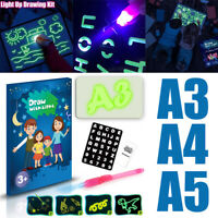 A3/A4/A5 Draw With Light Writing Pad Kids Drawing Painting Board Educational Toy