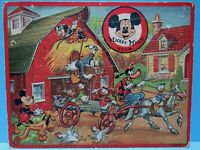 """VTG. INLAID 11"""" X 14"""" MICKEY MOUSE CLUB PUZZLE BY JAYMAR & DISNEY PRODUCTIONS VG"""