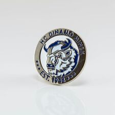 "KHL Dynamo Minsk ""Round"" pin, badge, lapel, hockey"